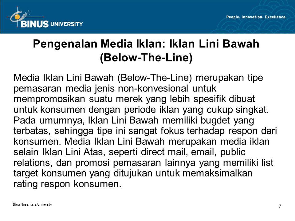 Pengenalan Media Iklan: Iklan Lini Bawah (Below-The-Line)