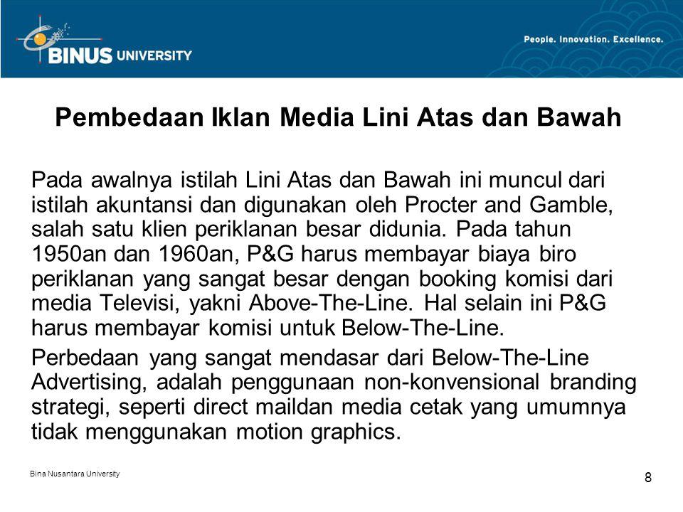 Pembedaan Iklan Media Lini Atas dan Bawah