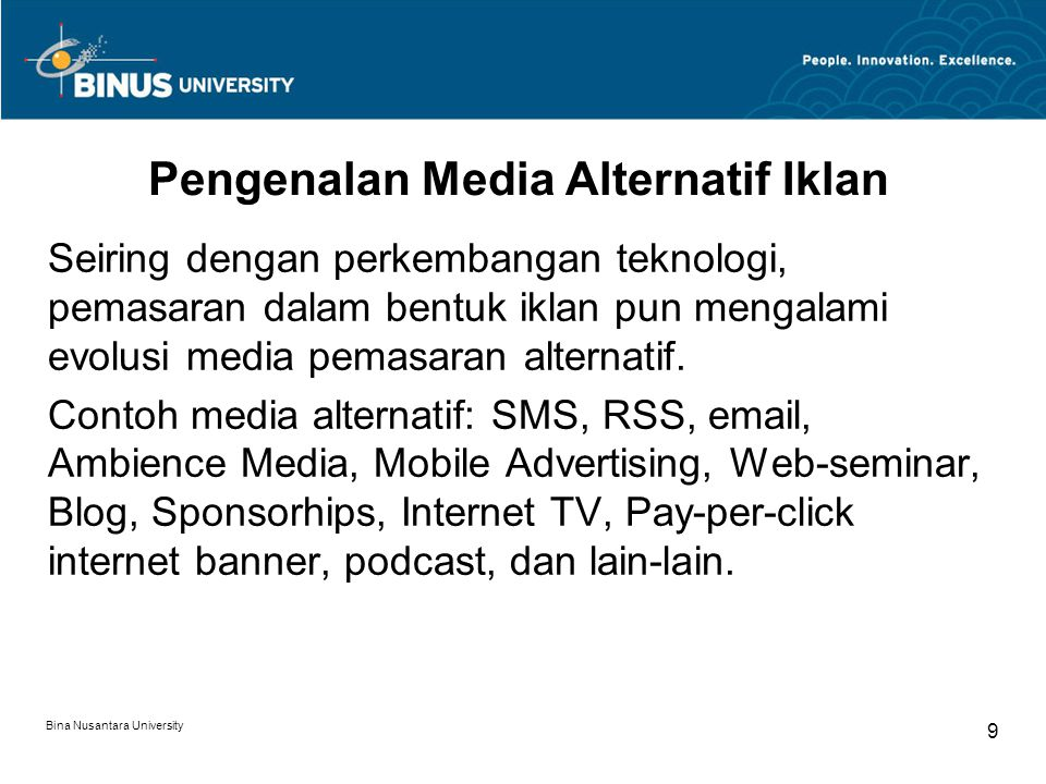 Pengenalan Media Alternatif Iklan