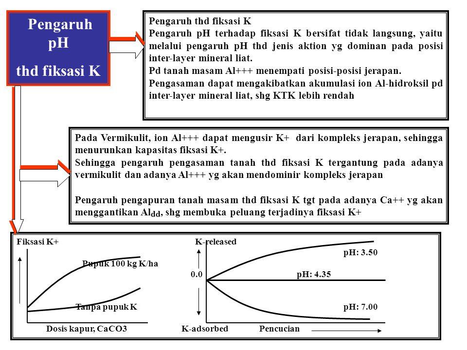 Pengaruh pH thd fiksasi K