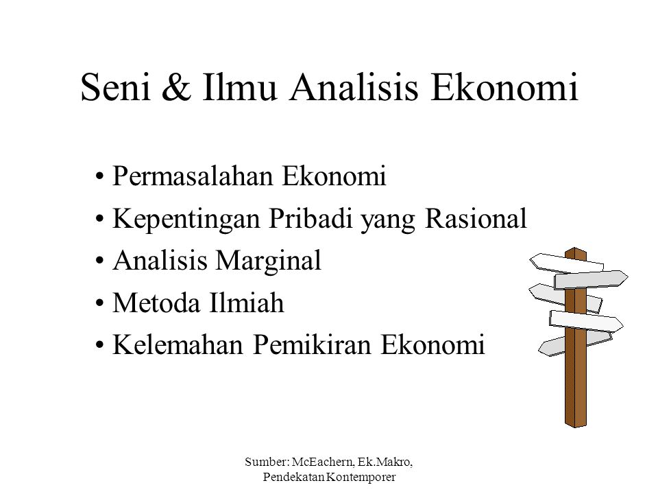 Seni & Ilmu Analisis Ekonomi