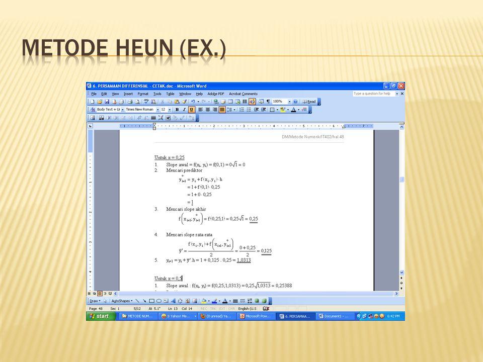 Metode Heun (Ex.)