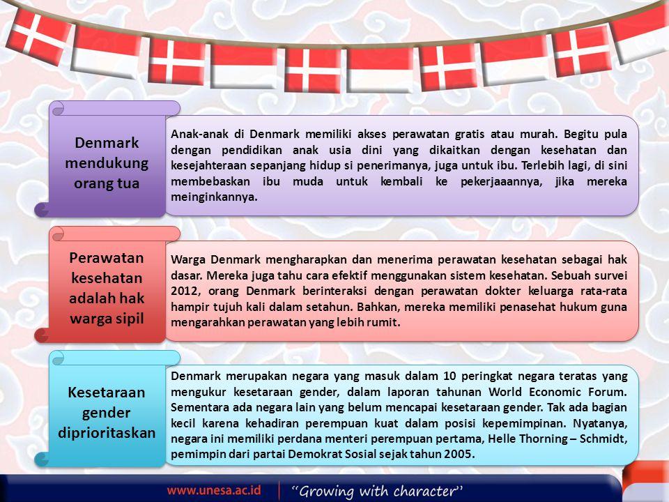 Denmark mendukung orang tua