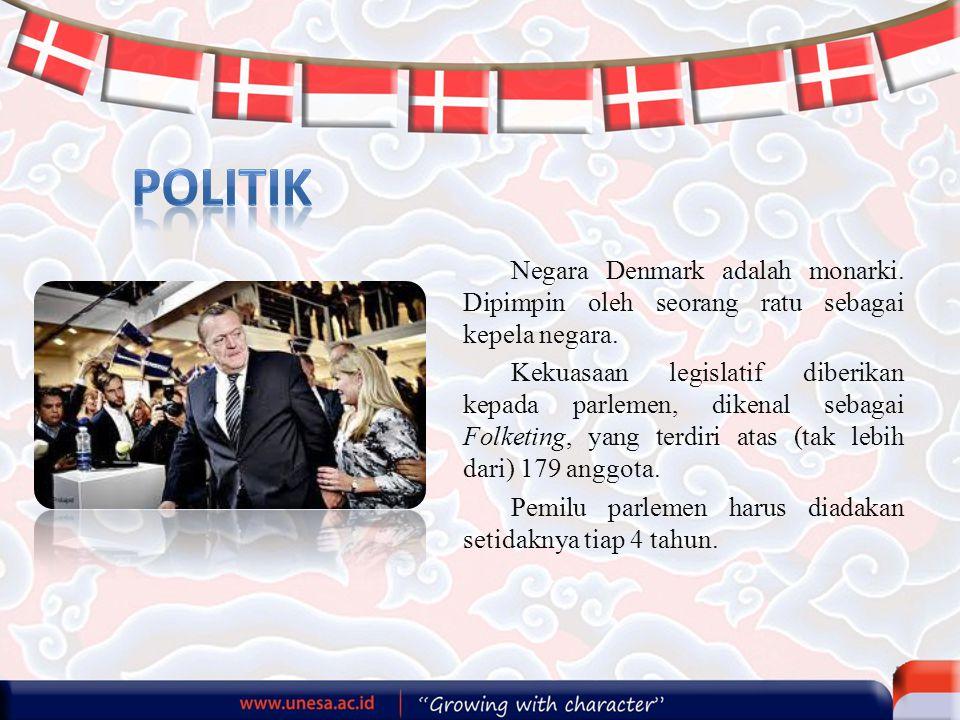 politik Negara Denmark adalah monarki. Dipimpin oleh seorang ratu sebagai kepela negara.
