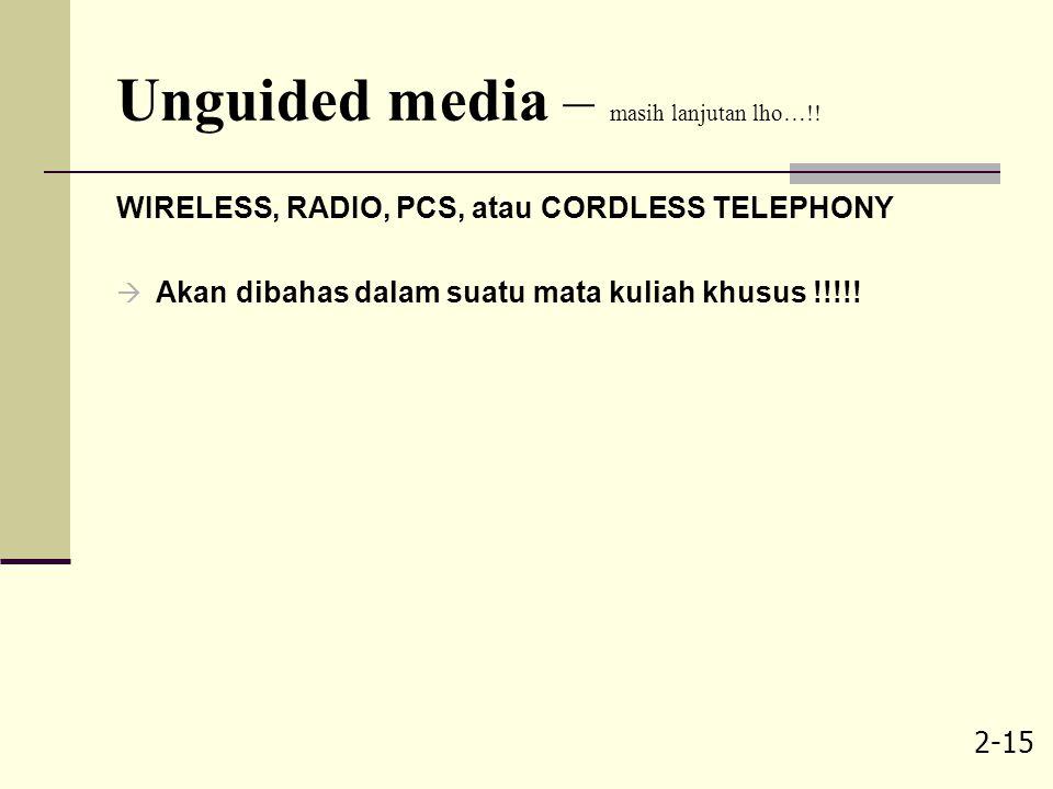 Unguided media – masih lanjutan lho…!!