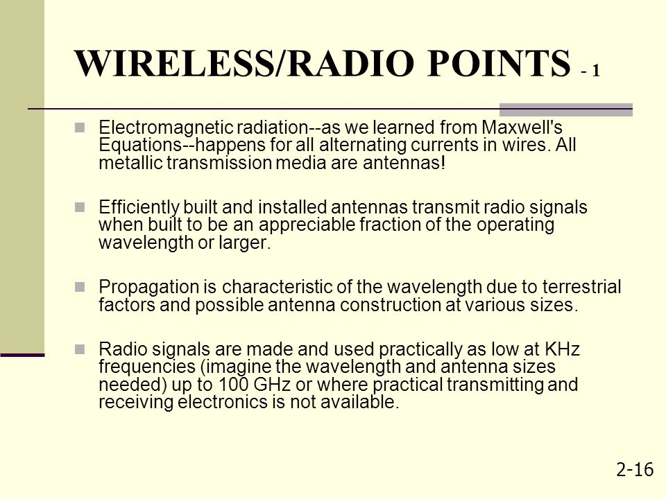 WIRELESS/RADIO POINTS - 1