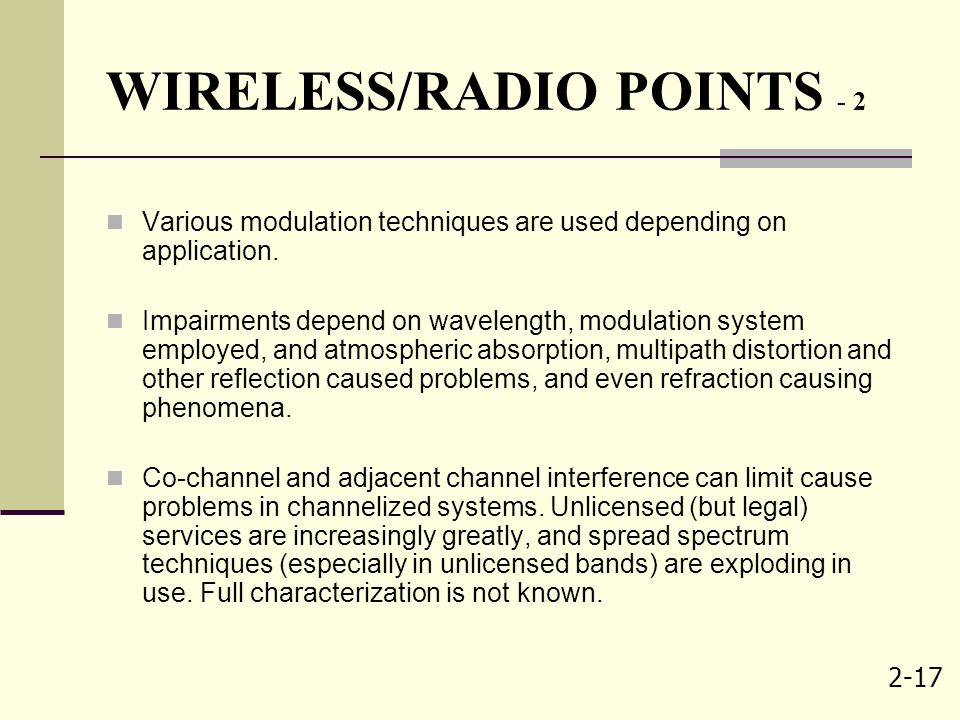 WIRELESS/RADIO POINTS - 2