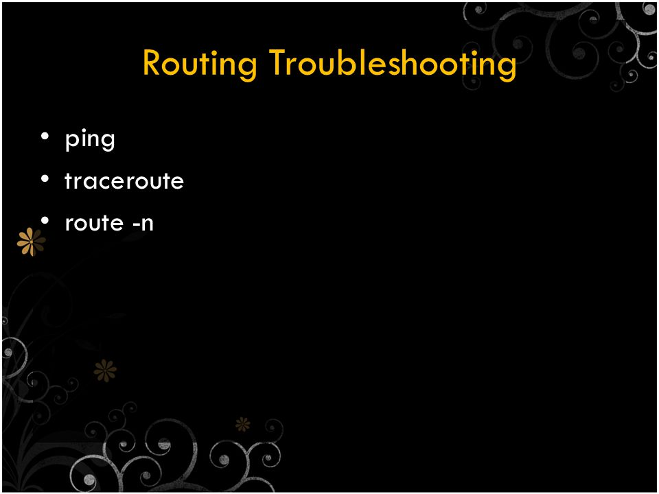 Routing Troubleshooting