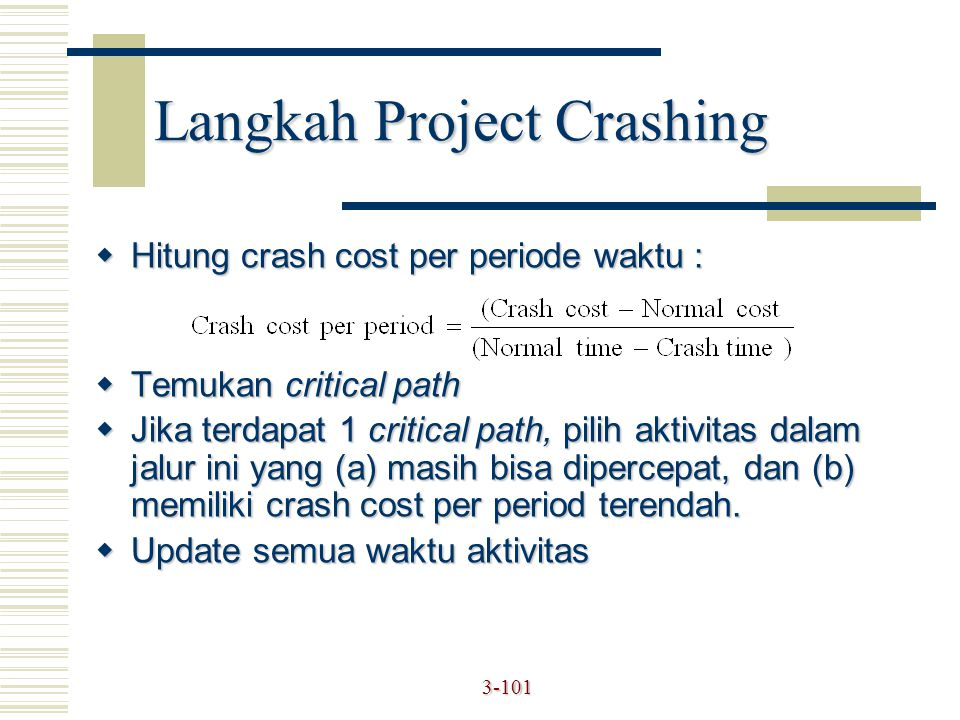 Langkah Project Crashing