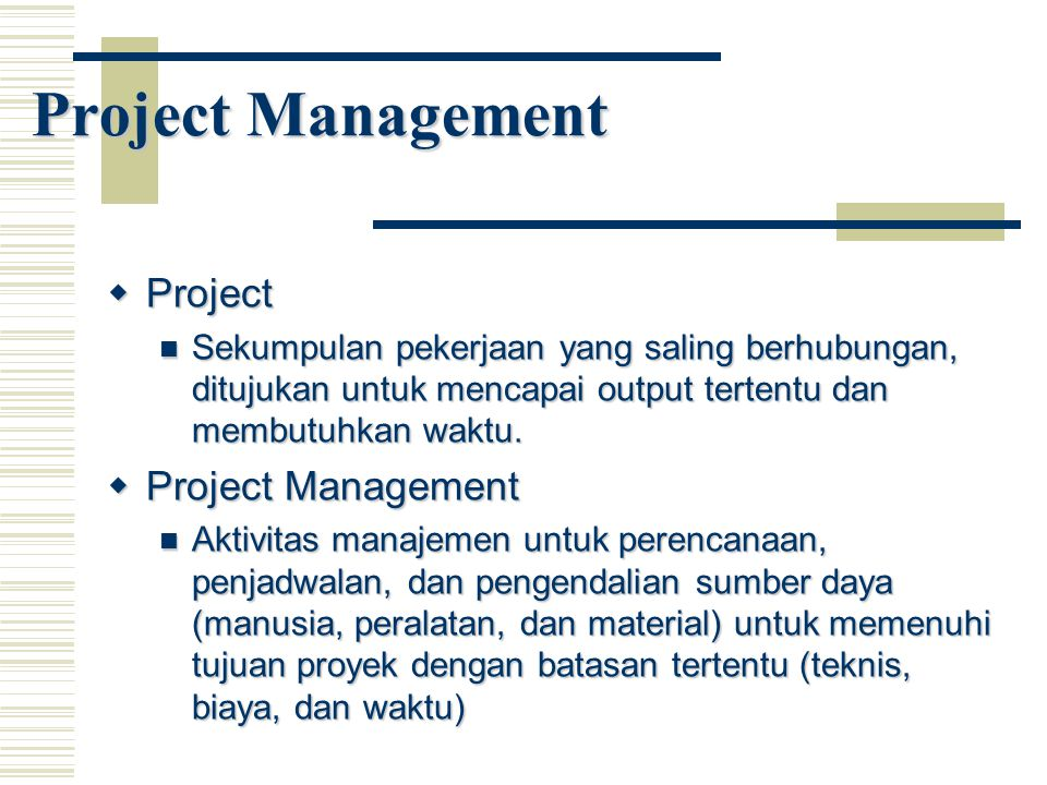 Project Management Project Project Management