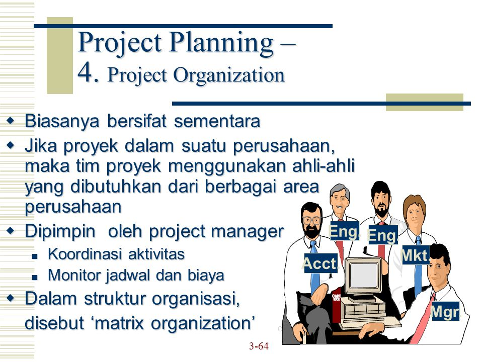 Project Planning – 4. Project Organization