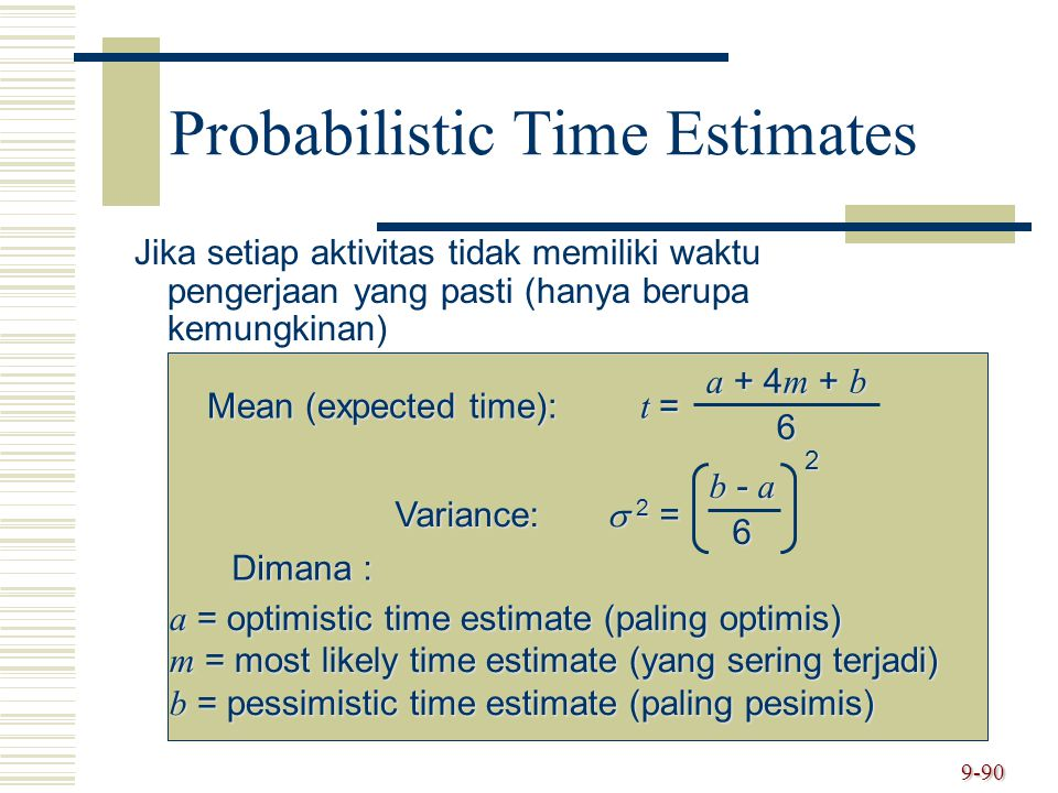 Probabilistic Time Estimates
