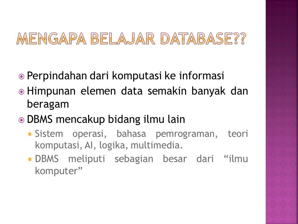 Mengapa belajar Database