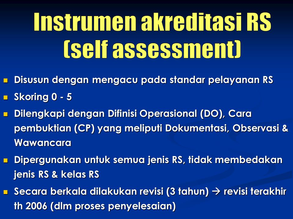 Instrumen akreditasi RS