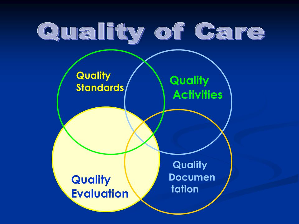 Quality of Care Quality Activities Quality Quality Evaluation Quality