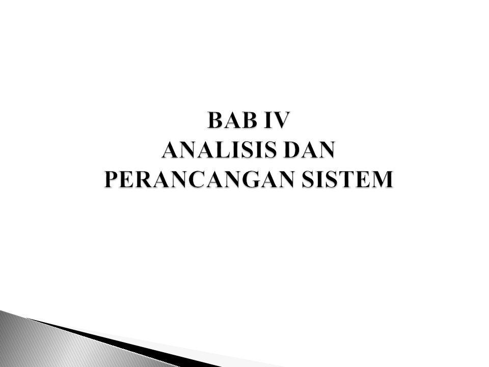 BAB IV ANALISIS DAN PERANCANGAN SISTEM