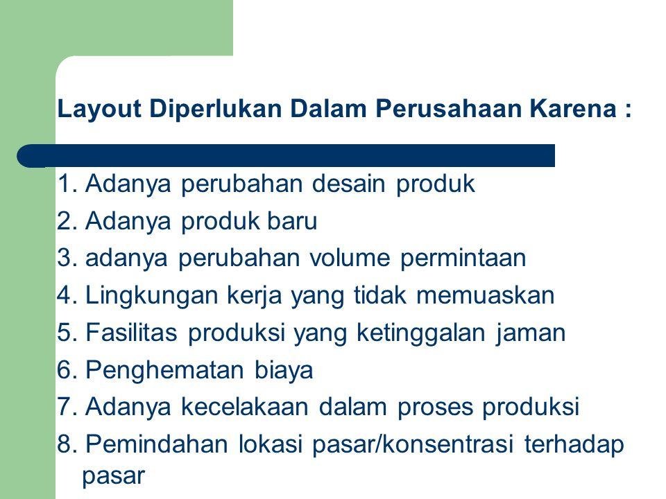 Layout Diperlukan Dalam Perusahaan Karena :