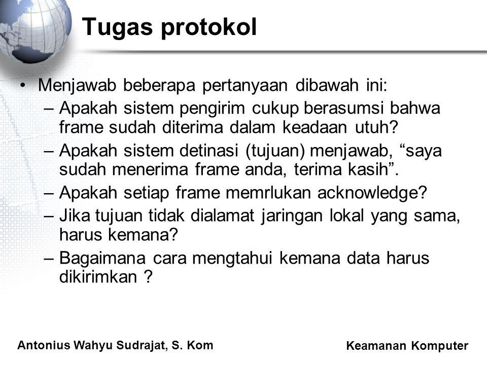 Tugas protokol Menjawab beberapa pertanyaan dibawah ini: