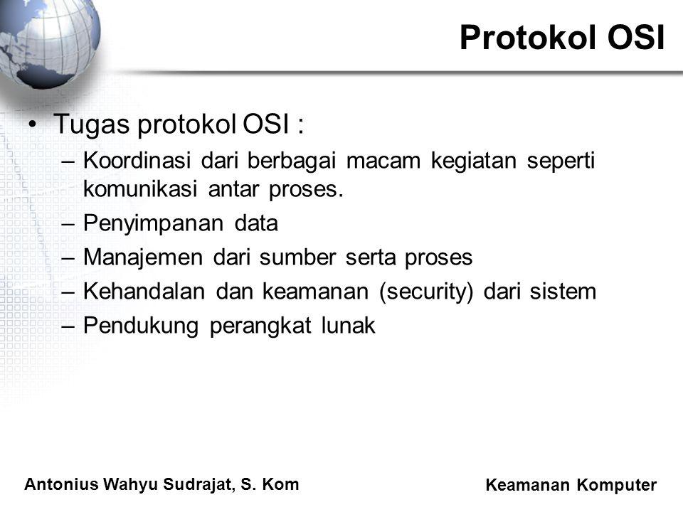Protokol OSI Tugas protokol OSI :