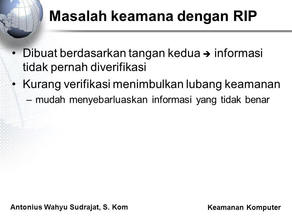 Masalah keamana dengan RIP