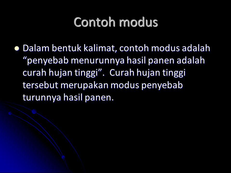 Contoh modus