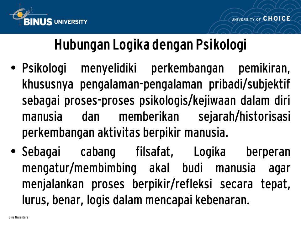 Hubungan Logika dengan Psikologi