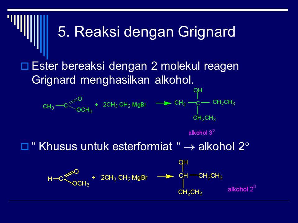 5. Reaksi dengan Grignard