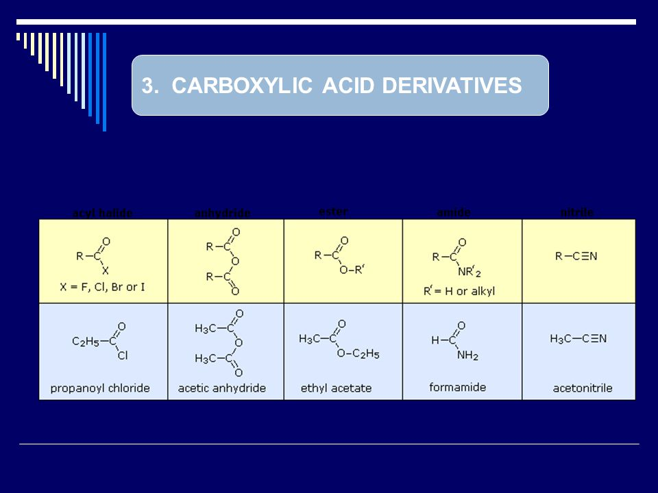3. CARBOXYLIC ACID DERIVATIVES