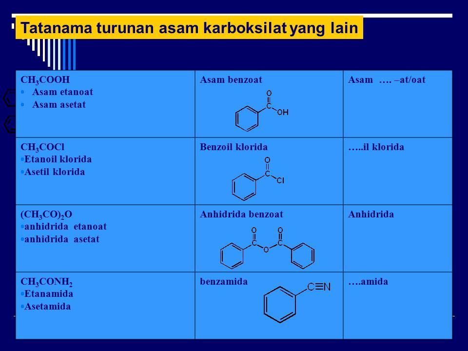 Tatanama turunan asam karboksilat yang lain