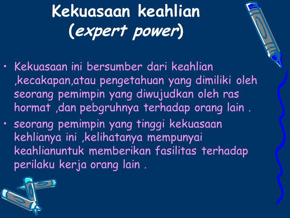 Kekuasaan keahlian (expert power)