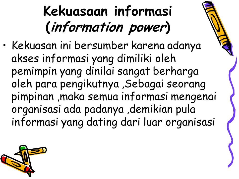 Kekuasaan informasi (information power)