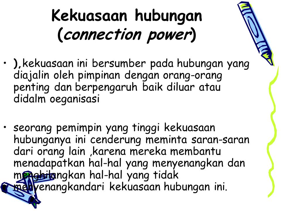Kekuasaan hubungan (connection power)