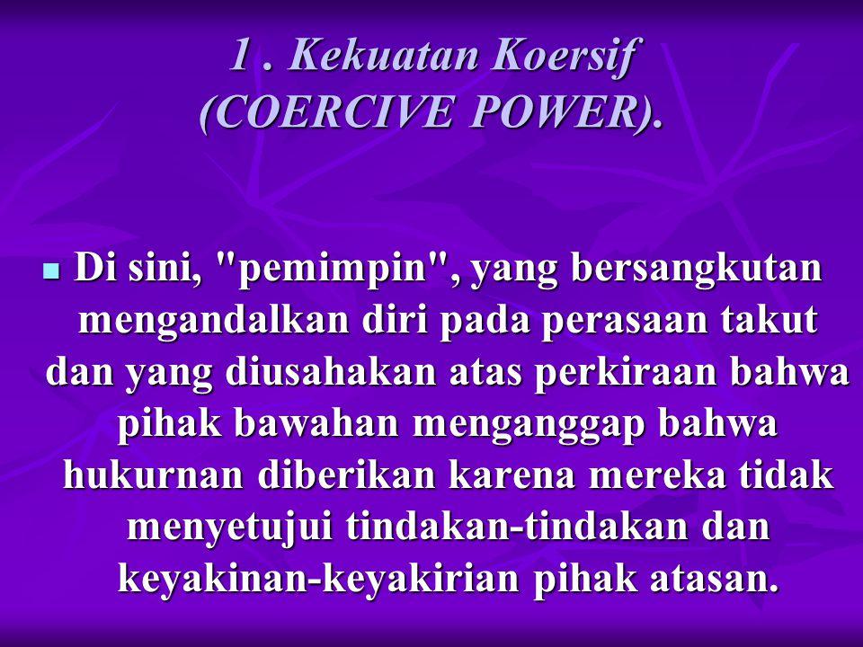 1 . Kekuatan Koersif (COERCIVE POWER).