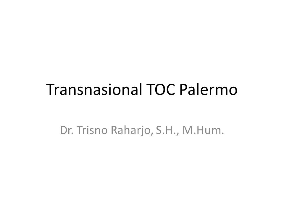 Transnasional TOC Palermo