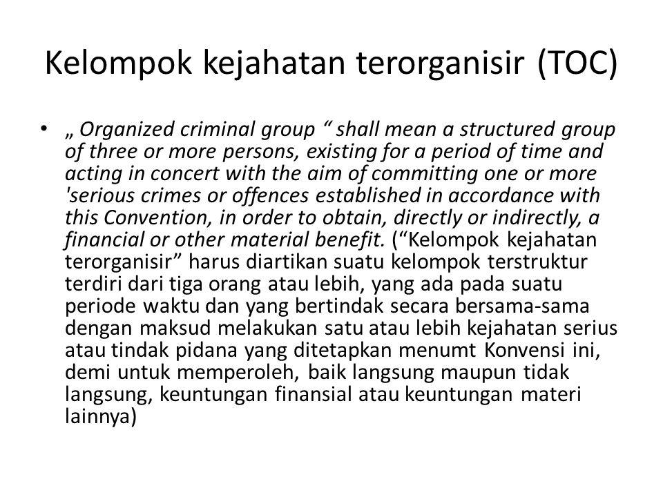 Kelompok kejahatan terorganisir (TOC)