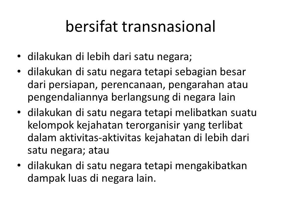 bersifat transnasional