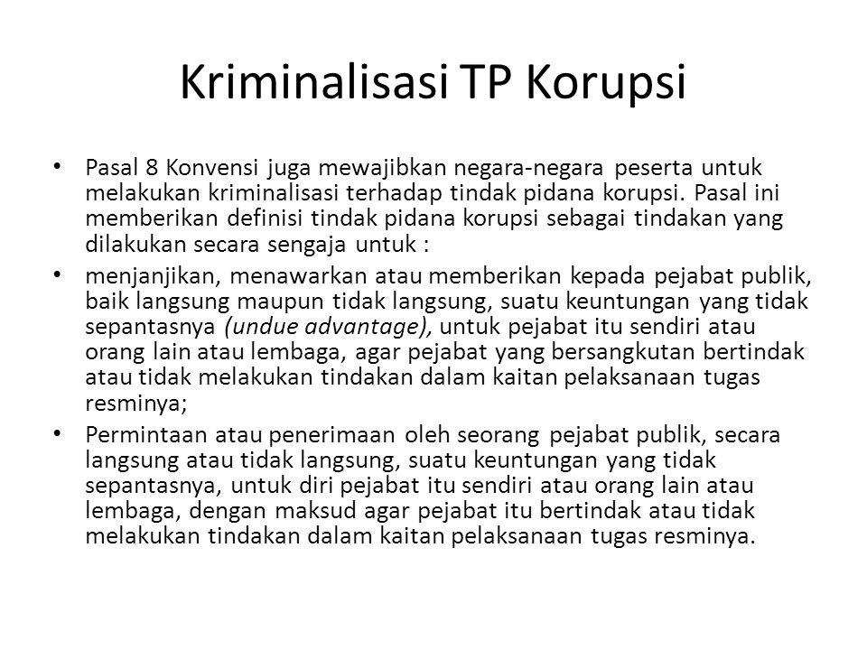 Kriminalisasi TP Korupsi