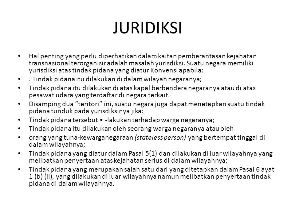 JURIDIKSI