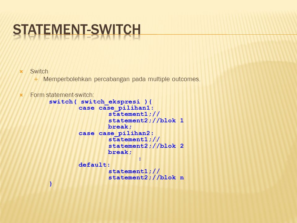 statement-switch Switch