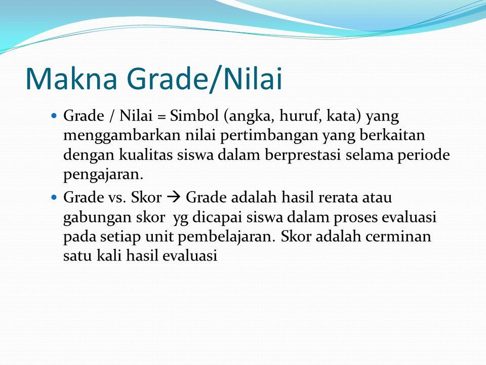Makna Grade/Nilai