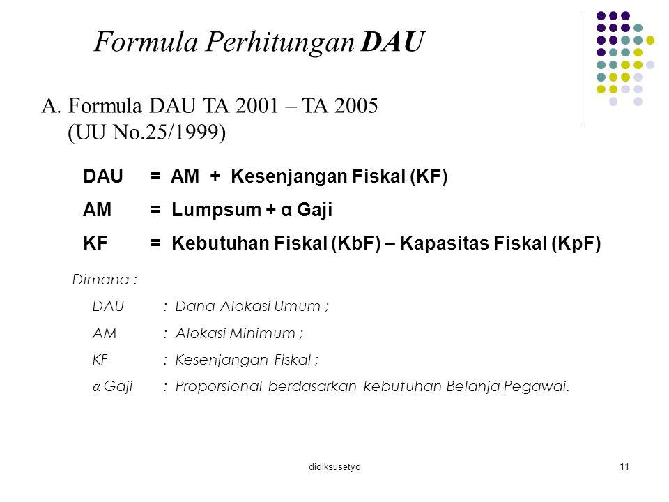 Formula Perhitungan DAU