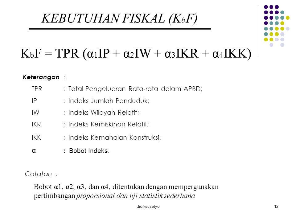KEBUTUHAN FISKAL (KbF)