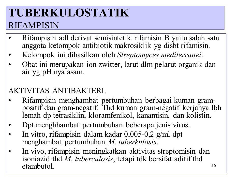 TUBERKULOSTATIK RIFAMPISIN