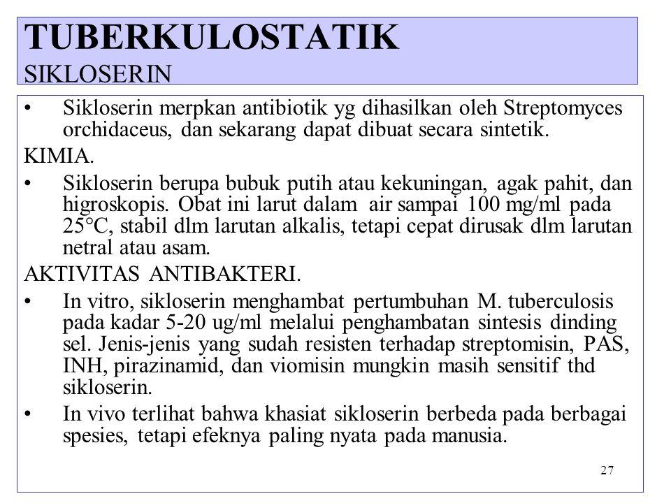 TUBERKULOSTATIK SIKLOSERIN
