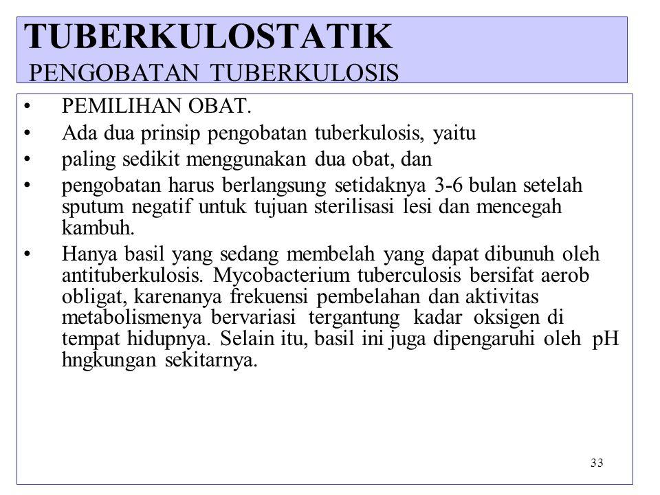 TUBERKULOSTATIK PENGOBATAN TUBERKULOSIS