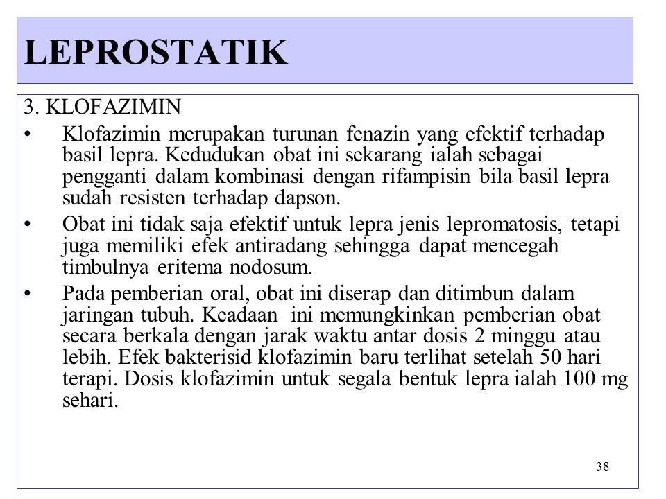 LEPROSTATIK 3. KLOFAZIMIN