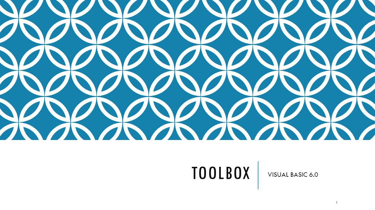 TOOLBOX VISUAL BASIC 6.0