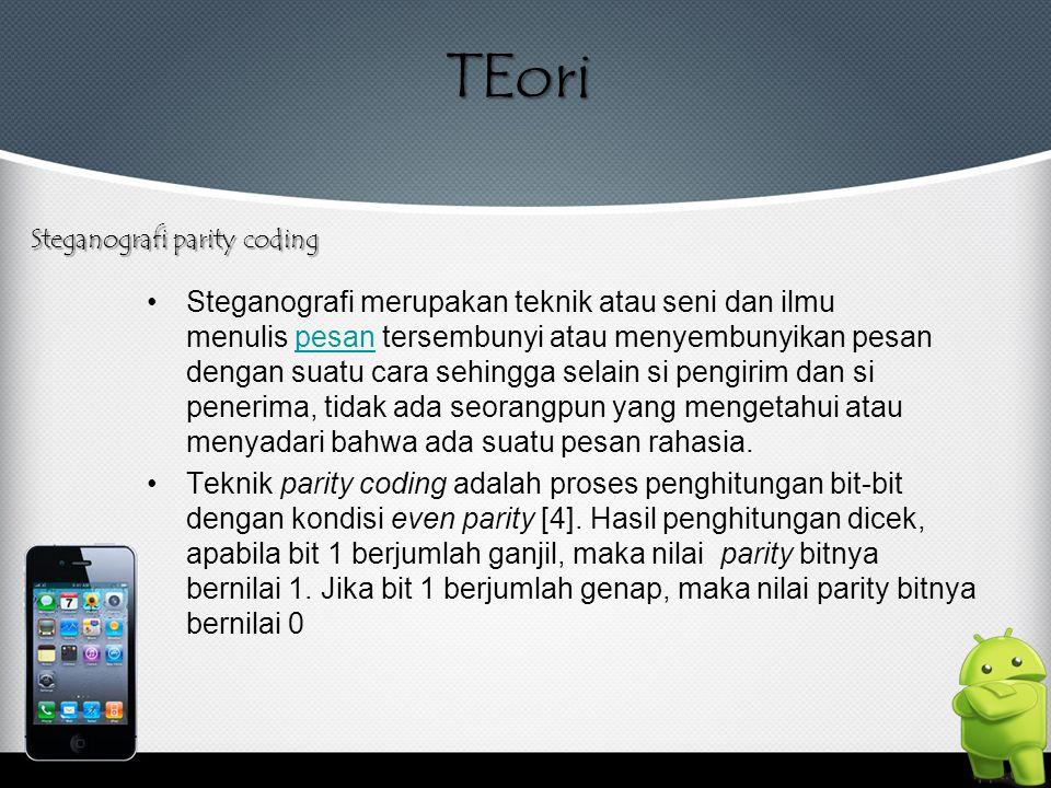 TEori Steganografi parity coding.