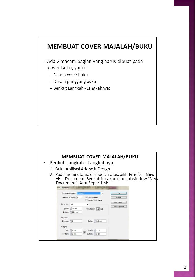 MEMBUAT COVER MAJALAH/BUKU