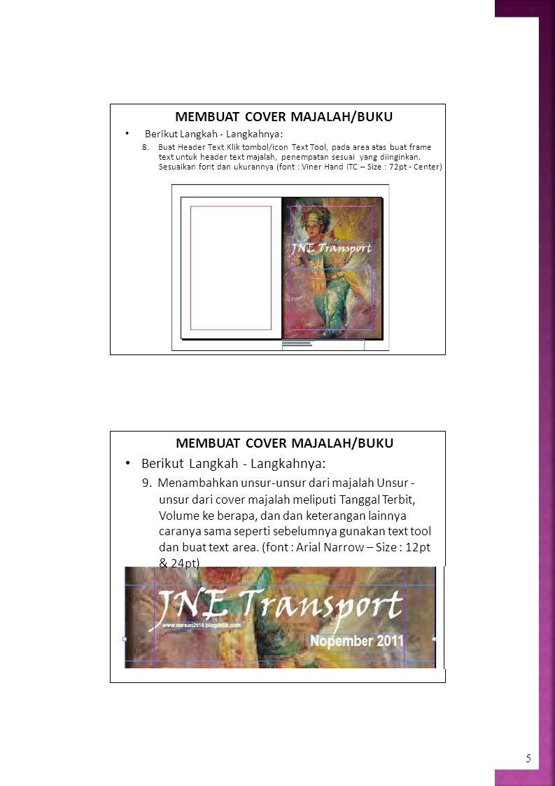 text untuk header text majalah, penempatan sesuai yang diinginkan.